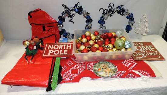 Large Christmas Bulb & Wreath Lot