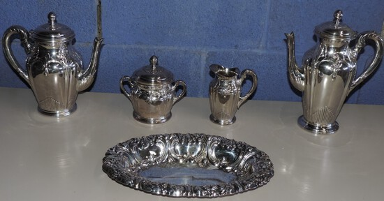 Lot of Antique Silver Plate