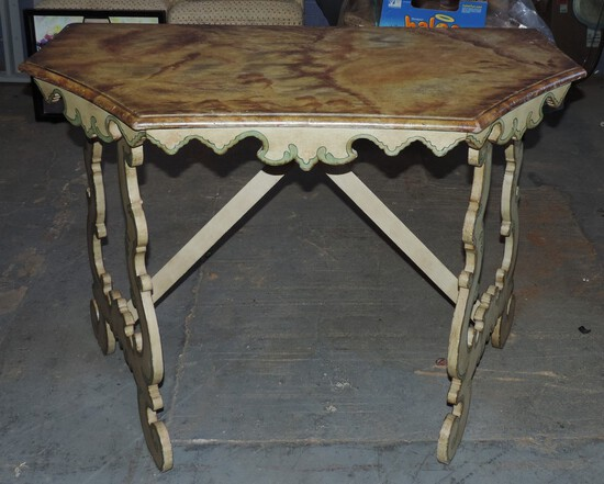 Chelsea House Italian Painted Console Table