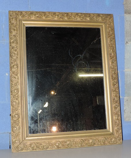 1890's Gold Gild Wall Mirror