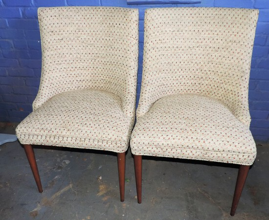 Pair of Mid Century living Room Side Chairs
