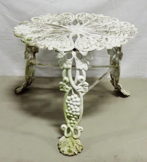 Vintage Cast Aluminum Grape Design Table