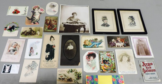 Tray Lot Victorian Photos & Postcards