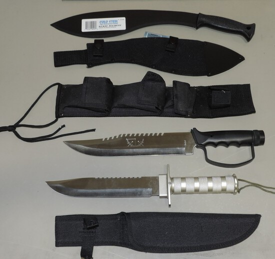 Kukri Machete, And 2 New Survival Knives