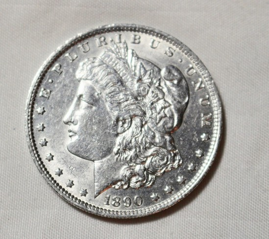 1890 O Uncirculated Morgan Silver Dollar