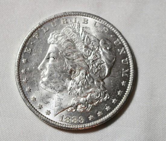 1921 Uncirculated Morgan Silver Dollar