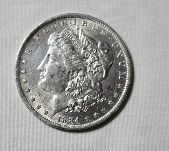 1884 O Uncirculated Morgan Silver Dollar