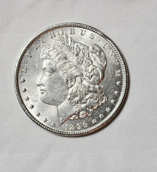 1896 Uncirculated Morgan Silver dollar