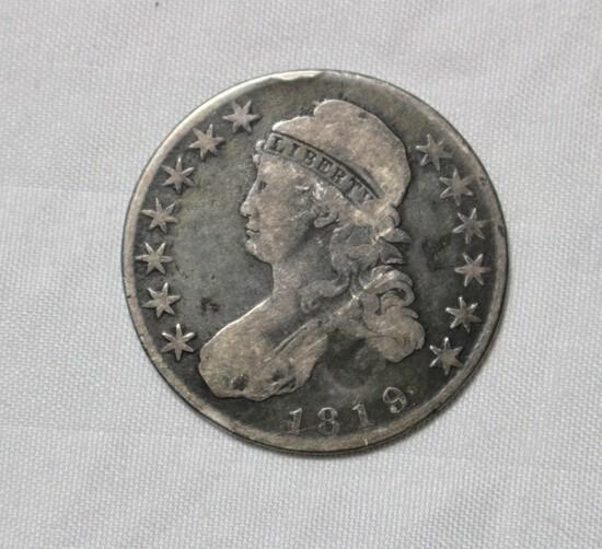 1819 Full Liberty Bust Silver Half Dollar
