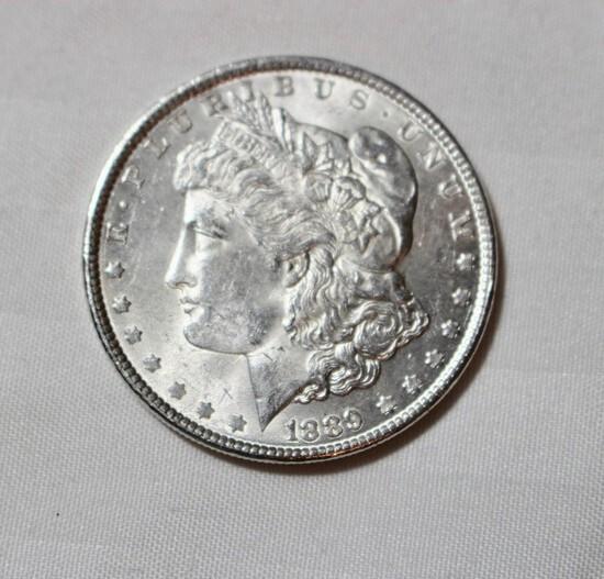 1889 Uncirculated Morgan Silver Dollar