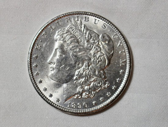 1890 Uncirculated Morgan Silver Dollar