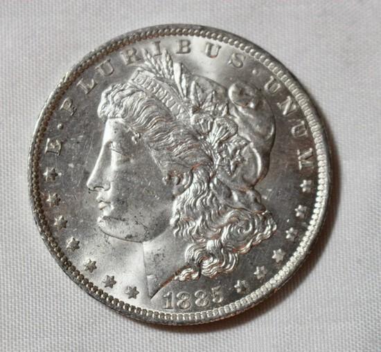 1885 O Uncirculated Morgan Silver Dollar