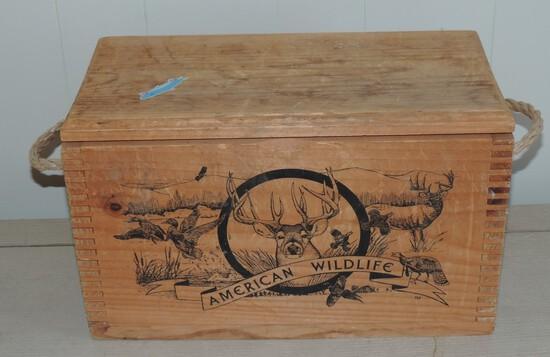 American Wildlife Lidded Box