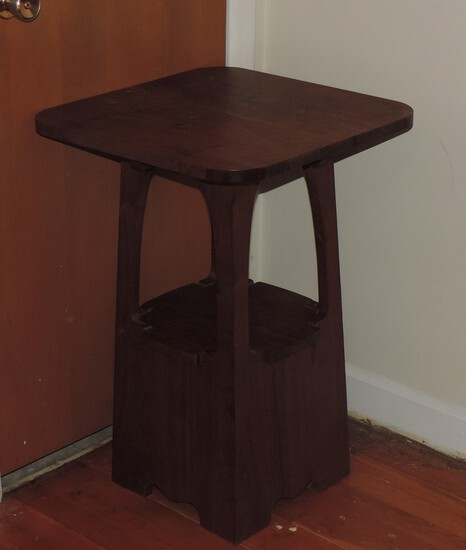 Beautiful Hand Crafted Walnut Side Table