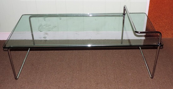 Chrome and Glass Multi Level Table