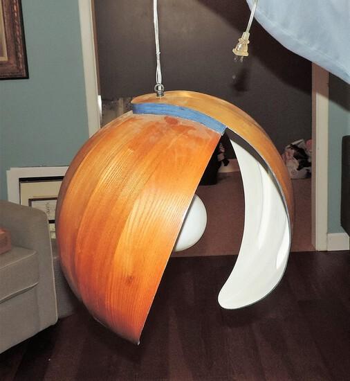 Beautiful Modern Hanging Teak Lamp