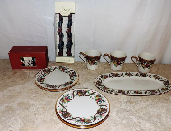 Lot of Christmas Lenox China