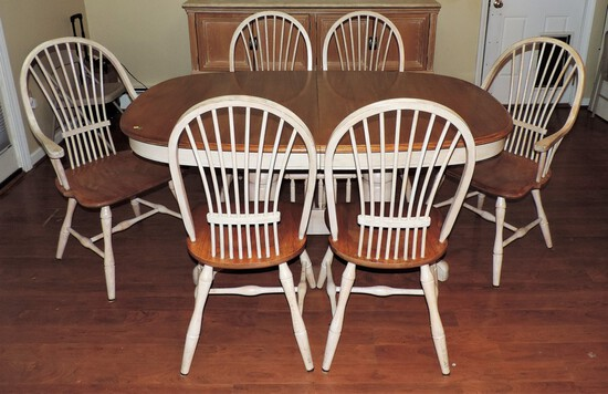 Lexington Kitchen Table and 6 Winsor Style Chairs