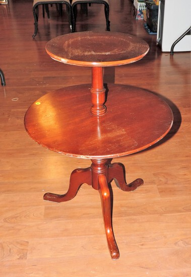 (2) Tiered Mahogany Table