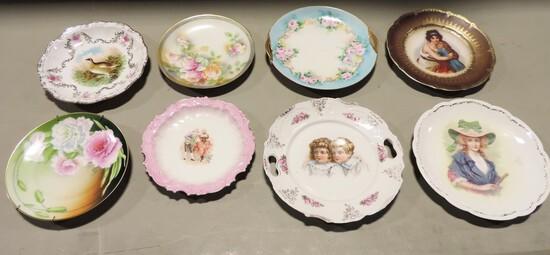 Tray Lot Antique Victorian Porcelain Plates
