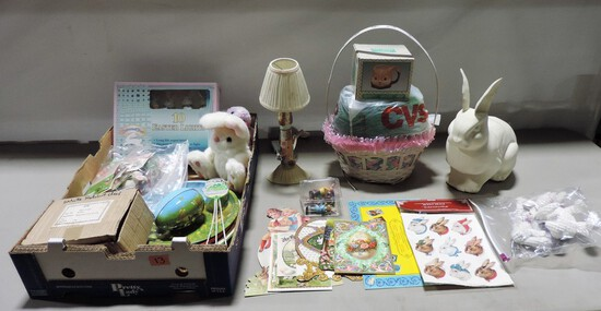 Box Lot Easter Holiday Collectibles