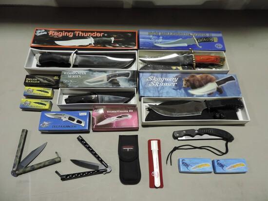 Box Lot Hunting & Pocket Knives