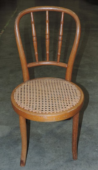 Kohn Childs Cane Seat Bentwood Chair