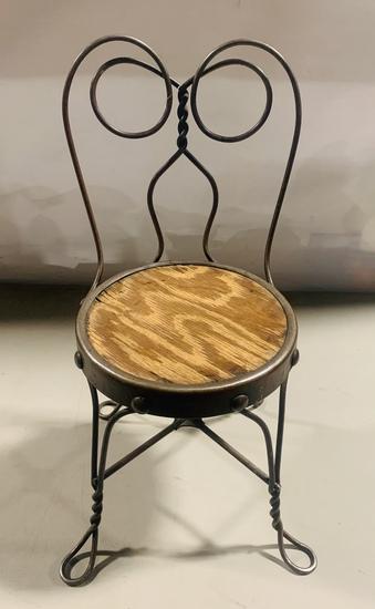 Antique Childs Ice Cream Chair