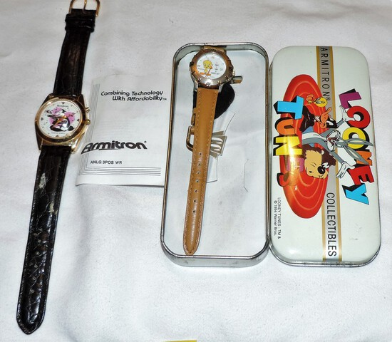 (2) Vintage Armitron Looney Toon Watches