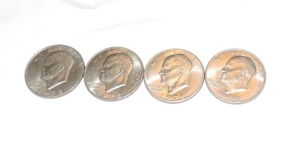 (4) Eisenhower Dollars