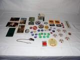 Political Pins, Postcard, and Film Lot