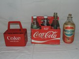 Coca Cola Bottle and Carrier Lot