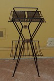 1970's Metal Plant Stand with Rosettes on Side