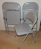 (4) Padded Card Table Chairs