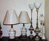 (6) 1970's Vintage Table Lamps
