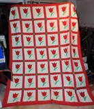 Handmade NC Country Tulip Quilt