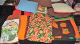 Lot of (5) Vintage Afghans and Pillows
