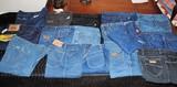 Lot of Vintage Blue Jeans