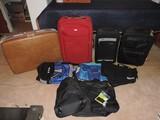 Large Lot of Vintage Luggage