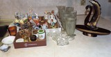 Lot of Vintage Ceramics, Iris and Herringbone Glasses, and More