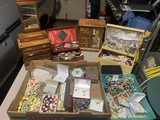 Large Lot of Costume Jewelry and Jewelry Boxes