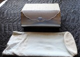 Vintage Designer Simon Straw Bags CO. Woman's Clutch Purse with Mirror