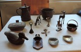 Lot of Antique Copper and Brass
