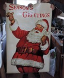 Lot of (2) Vintage Fantastic Santa Posters
