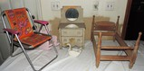 Lot of Vintage Playhouse Furniture