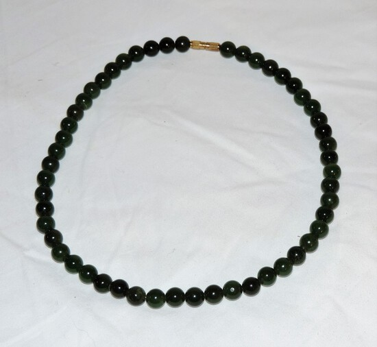 Jade Necklace with screw clasp