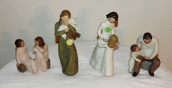 Lot of 4 Willow Tree Figures