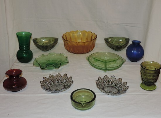 Lot of Colored Glass Lot