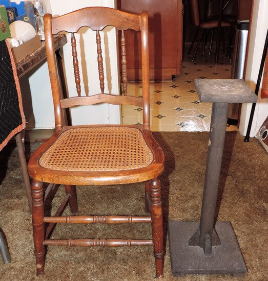 Wooden Chair and Stand
