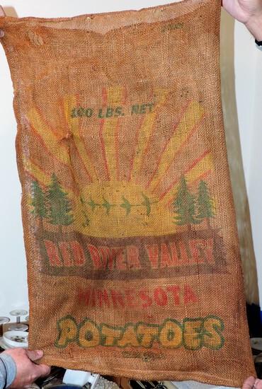 Antique Minnesota Potato Bag